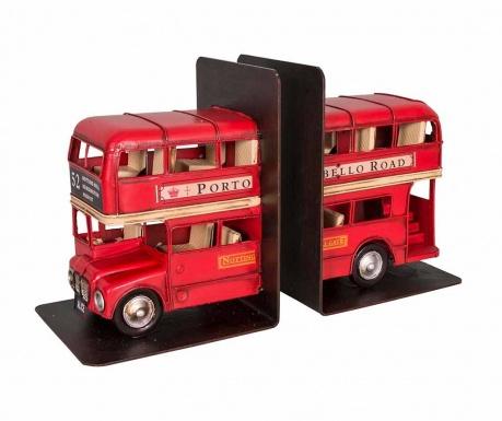 Sada 2 zarážek na knihy English Bus