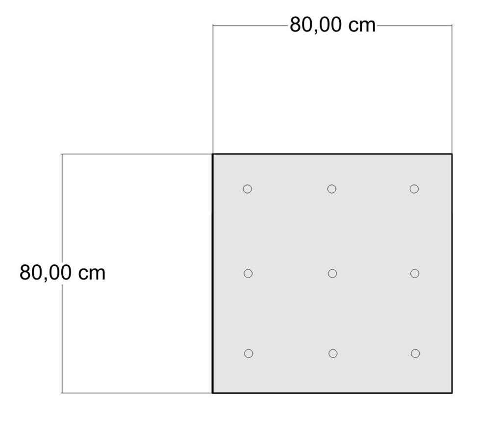 Perna de podea Yantra Stripes 80x80 cm