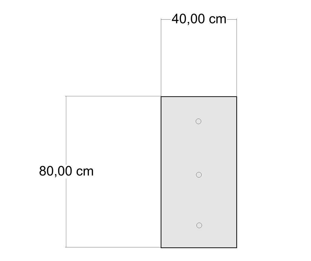 Perna de podea Yantra Grey Rectangular 40x80 cm