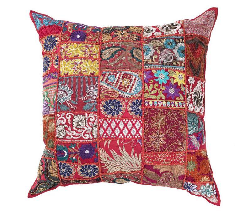 Perna decorativa Yantra Red Patch 52x52 cm