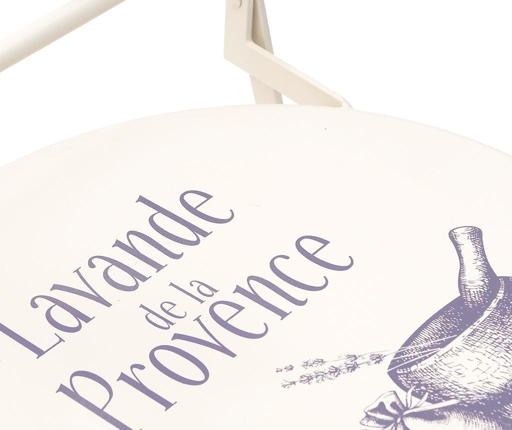Set masa si 2 scaune pliabile pentru exterior Provence