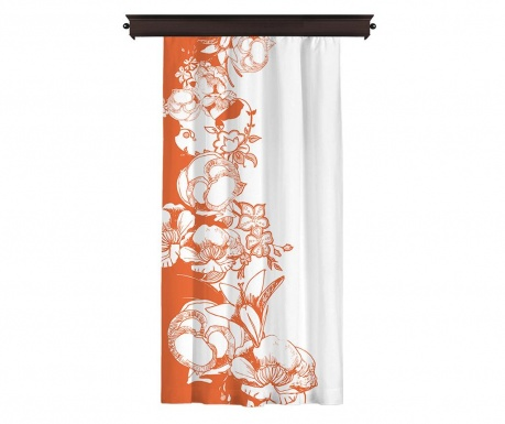 Zastor Efflorescence Orange 140x260 cm