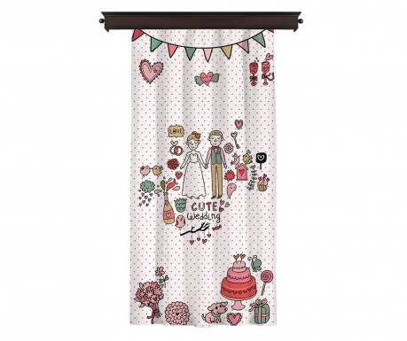 Zastor Cute Wedding 140x260 cm