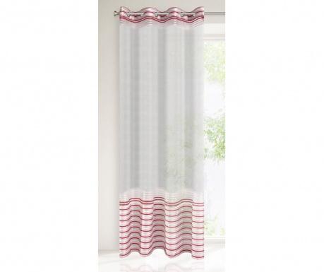 Záclona Evi Silver Red 140x250 cm