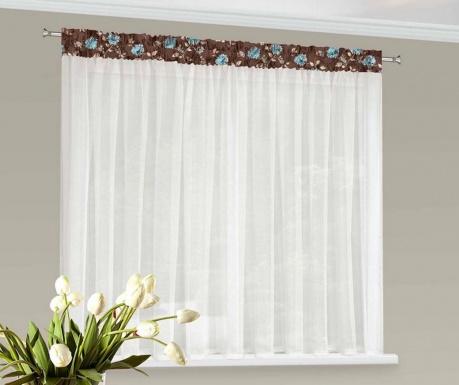 Záclona Daria Blue Flowers 150x400 cm