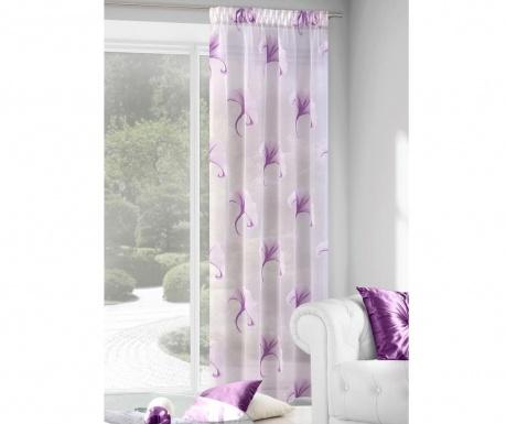 Záclona Ilona Cream Purple 140x280 cm