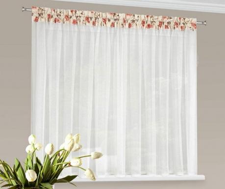 Záclona Daria Red Flowers 150x400 cm