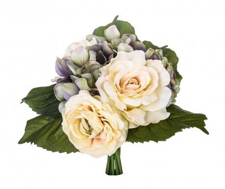 Kytice z umělých květin Rose and Ranunculus Purple