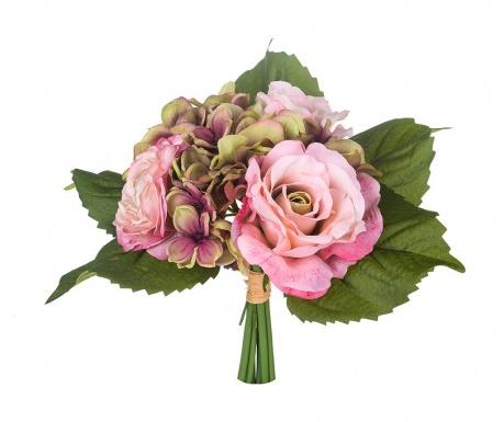 Kytice z umělých květin Rose and Ranunculus Mauve