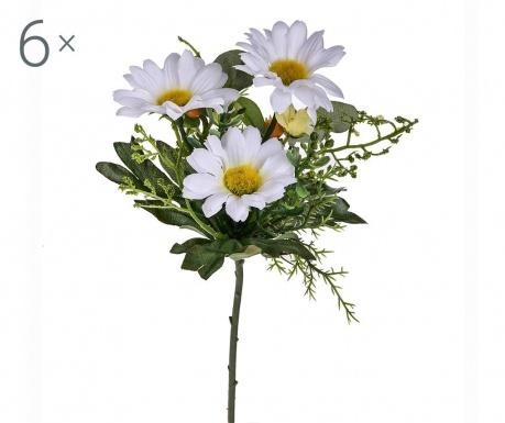 Sada 6 umělých květin Margarita Cream