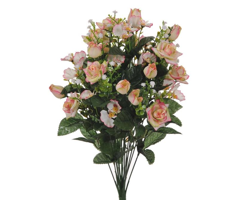 Buchet flori artificiale Rose and Orchids Light Pink