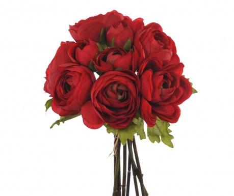 Kytice z umělých květin Ranunculus Red