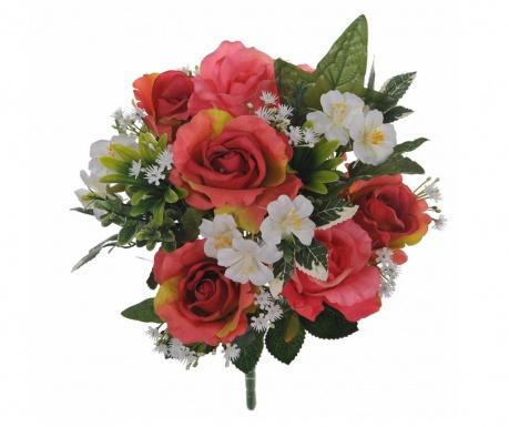 Kytice z umělých květin Roses and Hydrangea Pink