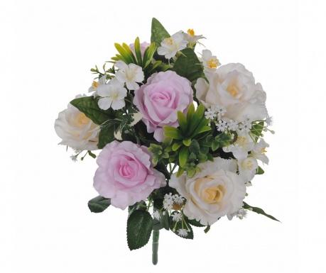 Kytice z umělých květin Roses and Hydrangea Lavander