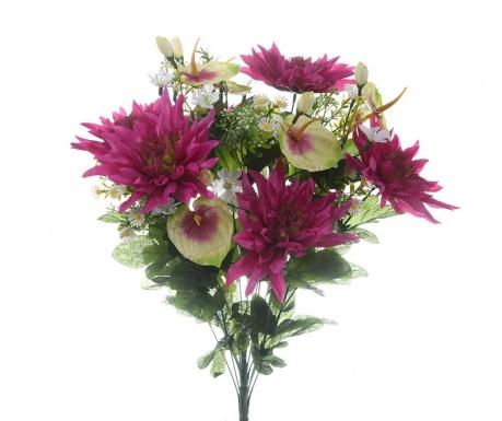 Kytice z umělých květin Dahlia Magenta