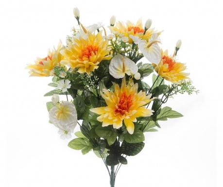 Kytice z umělých květin Dahlia Yellow