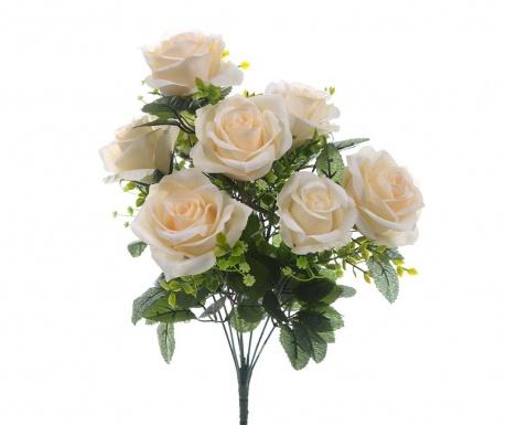 Kytice z umělých květin Roses and Gypsophila Cream