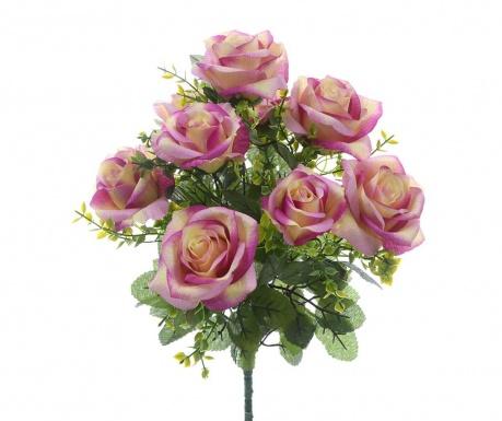 Kytice z umělých květin Roses and Gypsophila Purple