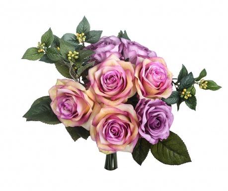 Kytice z umělých květin Rose Bouquet Mauve
