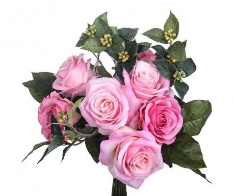Kytice z umělých květin Rose Bouquet Pink