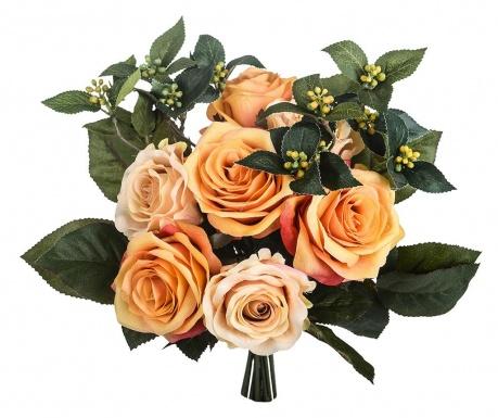Kytice z umělých květin Rose Bouquet Apricot