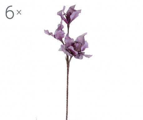 Sada 6 umělých květin Lily Lavander