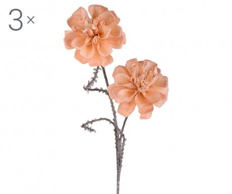 Sada 3 umělých květin Dahlias
