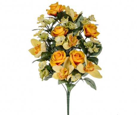 Kytice z umělých květin Orchid and Roses Orange
