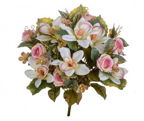 Kytice z umělých květin Orchids and Roses Pink