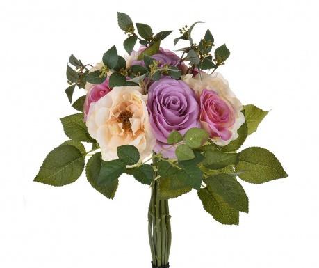 Kytice z umělých květin Rose Lavander