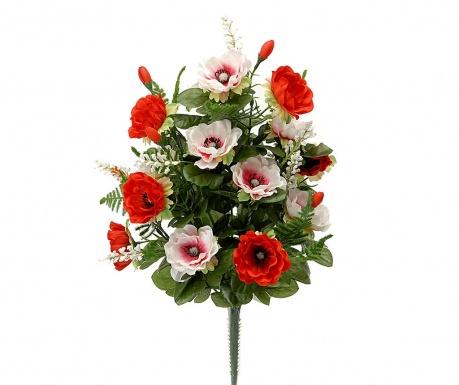 Kytice z umělých květin Anemone Red