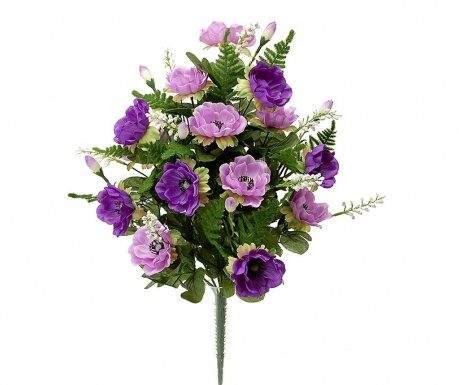 Kytice z umělých květin Anemone Purple