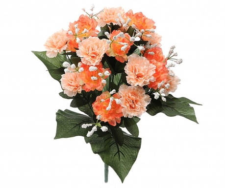 Kytice z umělých květin Carnation and Gypsophila Peach