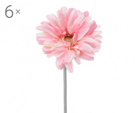 Sada 6 umělých květin Transvaal Daisy Pink