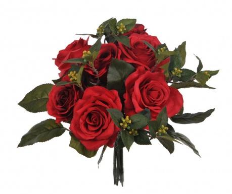 Kytice z umělých květin Rose Bouquet Red