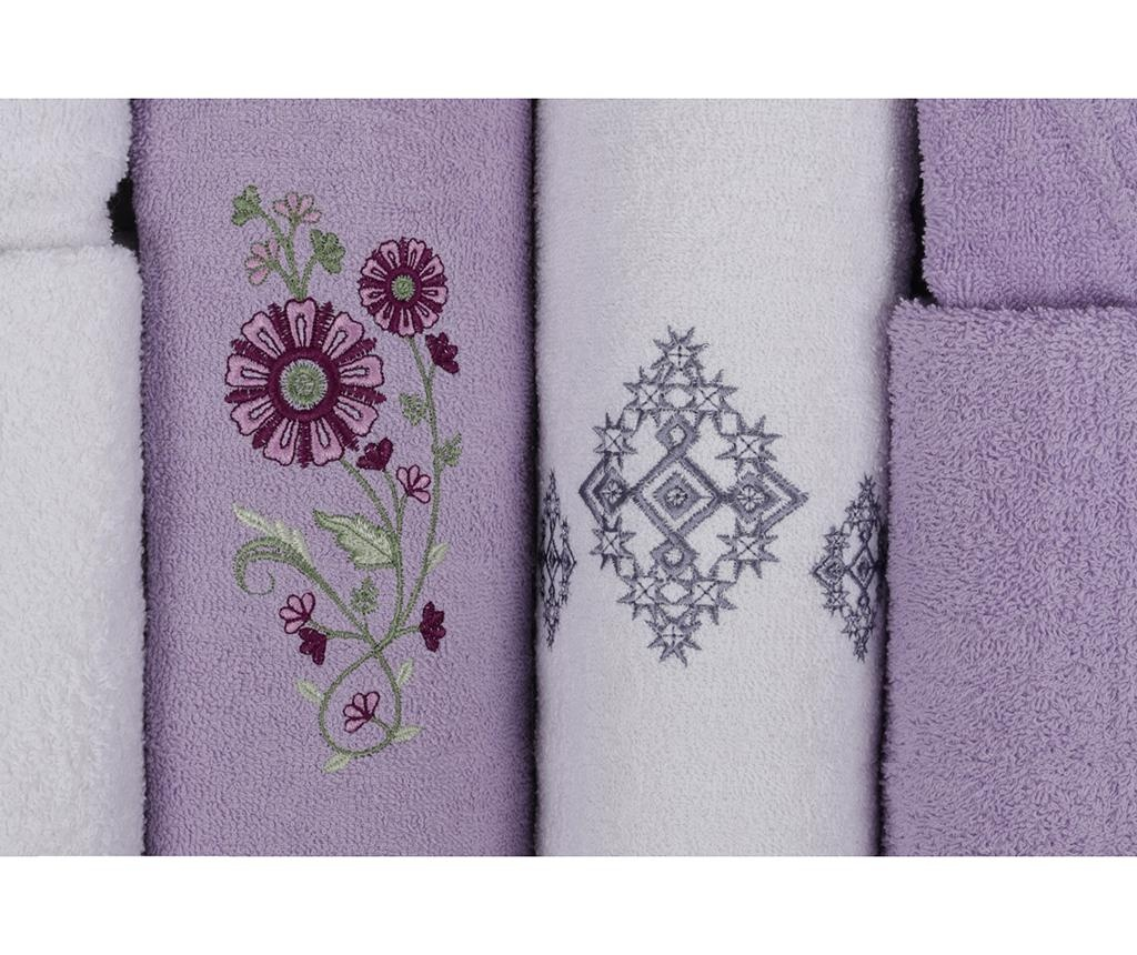 6-dijelni set za kupaonicu Aile Lilac