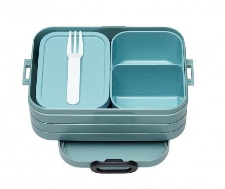 Bento Green Ételtároló doboz 1 evőeszközzel S