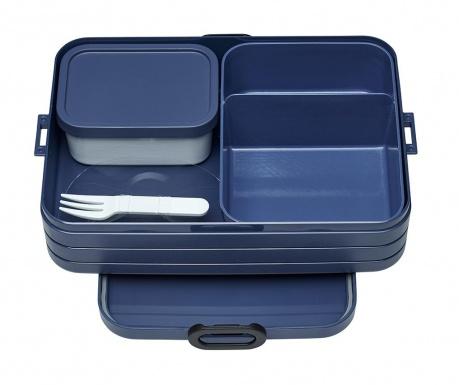 Bento Blue Ételtároló doboz 1 evőeszközzel M