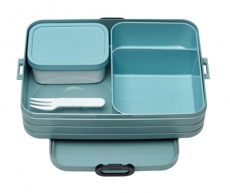 Bento Green Ételtároló doboz 1 evőeszközzel M
