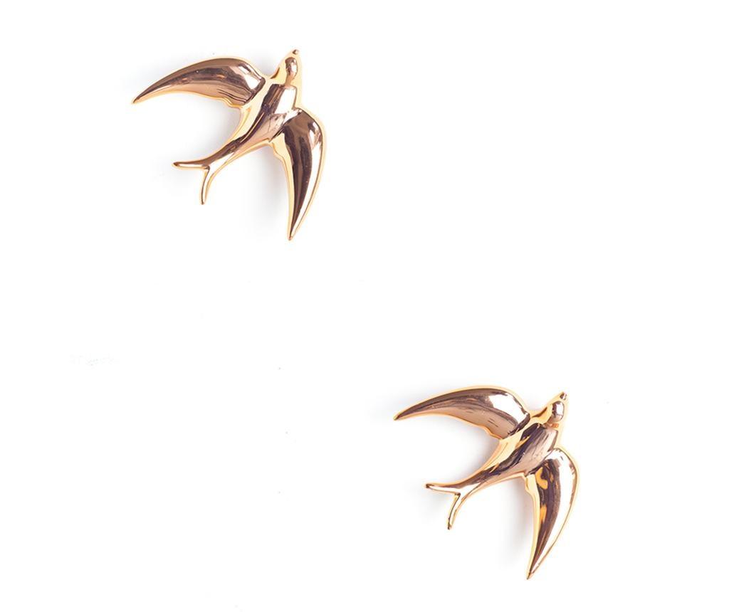Set 2 decoratiuni de perete Swallows Golden