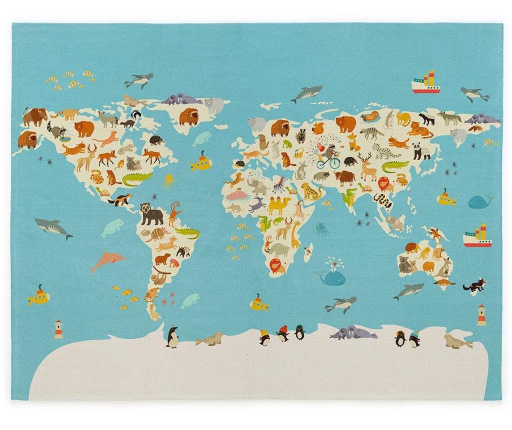 World Map Szőnyeg 120x160 cm