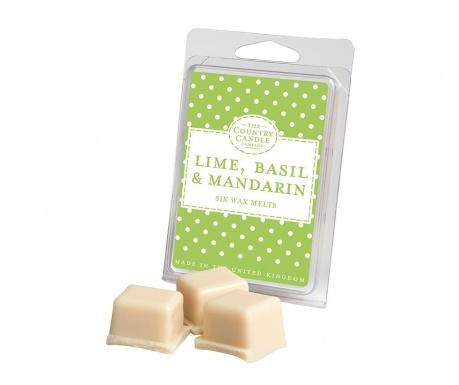 Set 6 kosov dišečega voska Polka Dot Lime, Basil and Mandarin