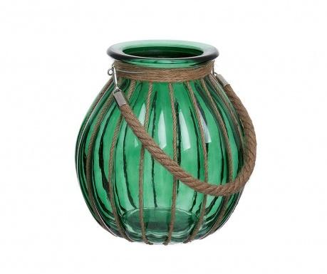 Lanterna Light Of Wood Oval Green