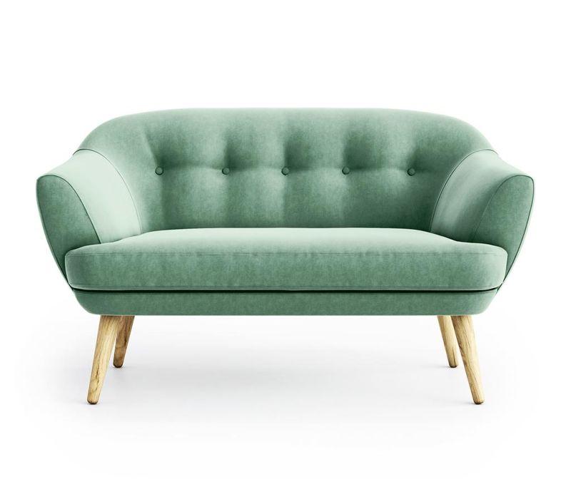 Canapea 2 locuri Elsa Riviera Light Green