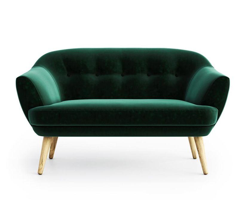 Elsa Riviera Dark Green Kétszemélyes kanapé
