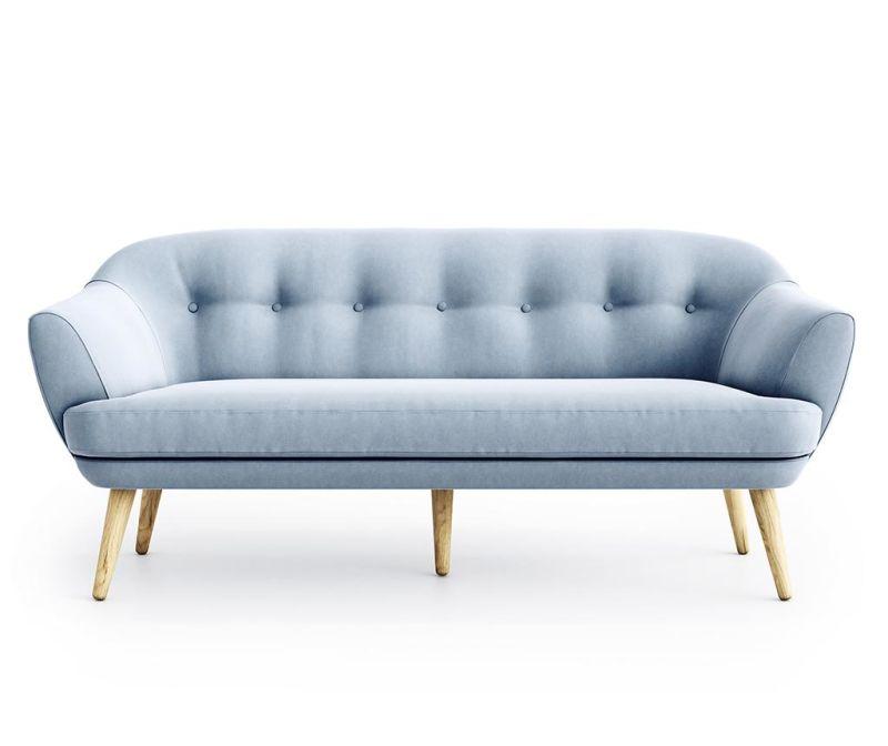 Elsa Riviera Steel Blue Háromszemélyes Kanapé