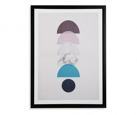 Πίνακας Moon Circle Blue 45x60 cm