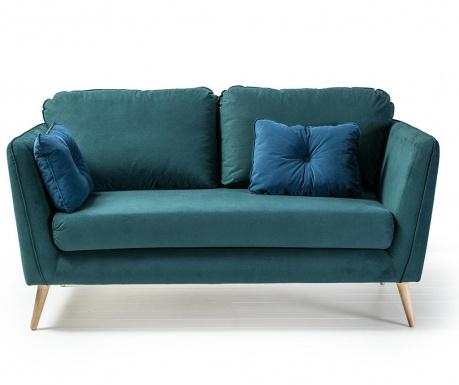 Двуместно канапе Clara Basel Green Blue