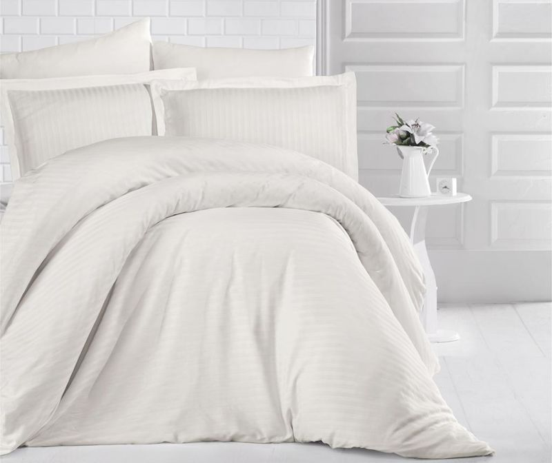 Lenjerie de pat King Satin Supreme Antrasit Cream 200x220