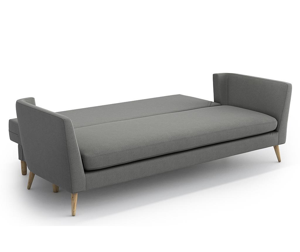 Canapea extensibila 3 locuri Jane Olaf Dark Grey
